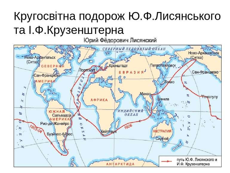 Кругосвітна подорож Ю.Ф.Лисянського та І.Ф.Крузенштерна