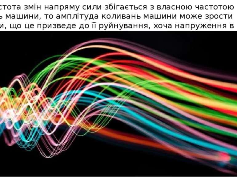 Якщо частота змін напряму сили збігається з власною частотою вільних коливань...