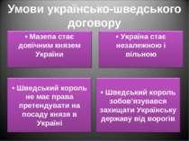 Умови українсько-шведського договору