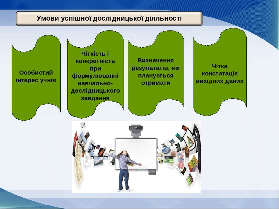 Особистий інтерес учнів Чіткість і конкретність при формулюванні навчально-до...