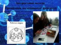 Інтерактивні методи проводять дослідження, спостерігають, порівнюють; об'єдну...