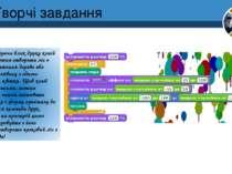Творчі завдання Використовуючи блок друку копій спрайтів можна створити ліс з...
