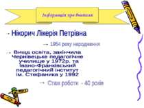 Інформація про вчителя