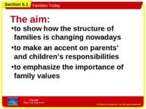 The aim: to show how the structure of families is changing nowadays to make a...