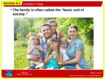 "Slide * of 23 The family is often called the ""basic unit of society."" Section..."
