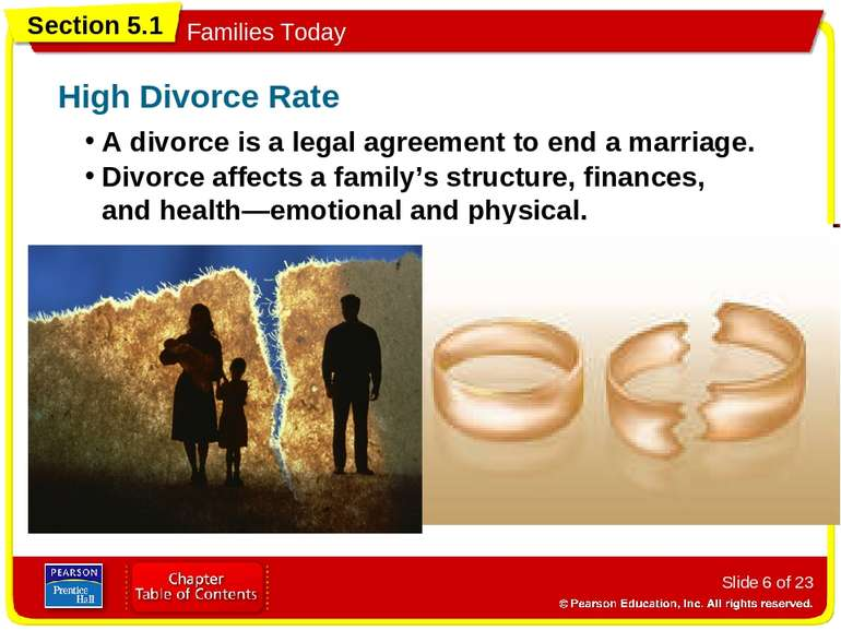 Slide * of 23 A divorce is a legal agreement to end a marriage. High Divorce ...