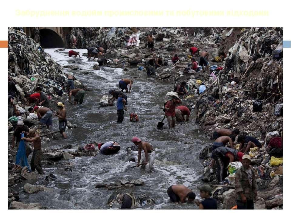 Забруднення водойм промисловими та побутовими відходами