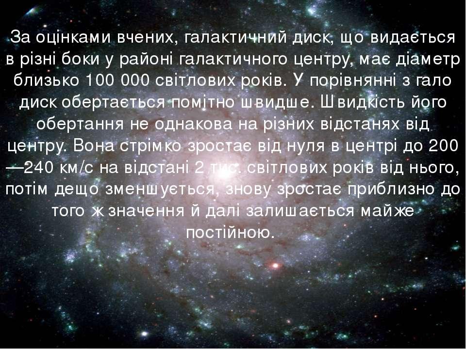 За оцінками вчених, галактичний диск, що видається в різні боки у районі гала...