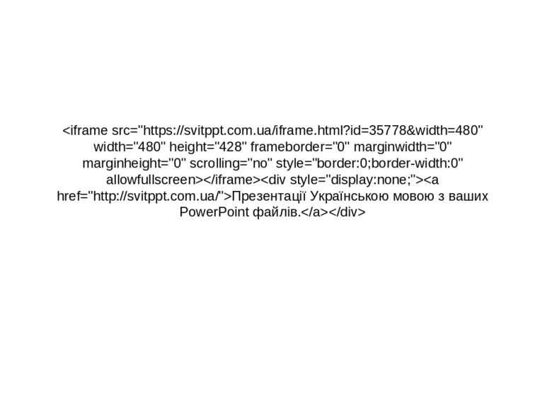 Презентації Українською мовою з ваших PowerPoint файлів.