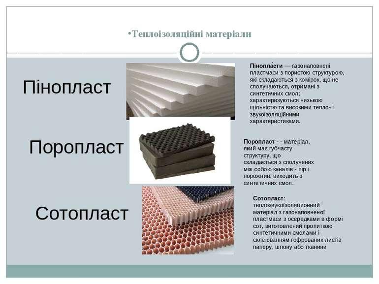 Теплоізоляційні матеріали Пінопласт Пінопла сти—газонаповнені пластмасиз п...