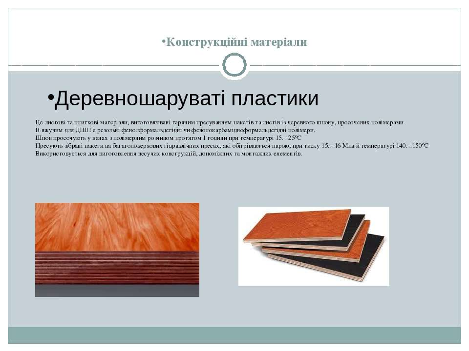 Конструкційні матеріали Це листові та плиткові матеріали, виготовлювані гаряч...