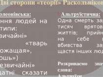 Дві сторони «теорії» Раскольнікова Наполеонівська: Ділення людей на два типи:...