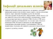 Інфекціїдихальних шляхів. Інфекціїдихальних шляхів передаються, як правило,...