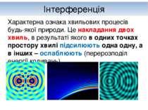Інтерференція Характерна ознака хвильових процесів будь-якої природи. Це накл...