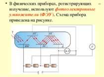 В физических приборах, регистрирующих – излучение, используют фотоэлектронные...