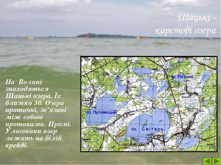 Найбільше з них – озеро СВІТЯЗЬ Площа озера – 2750 га