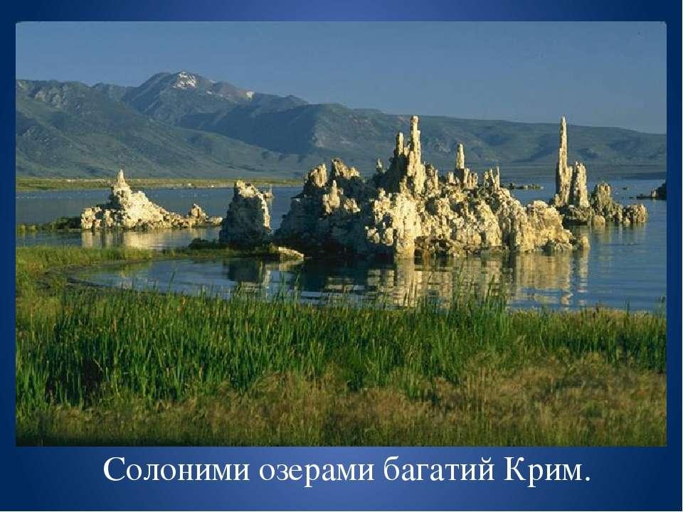 Найвідоміше озеро , з якого добувають кухонну сіль. СИВАШ