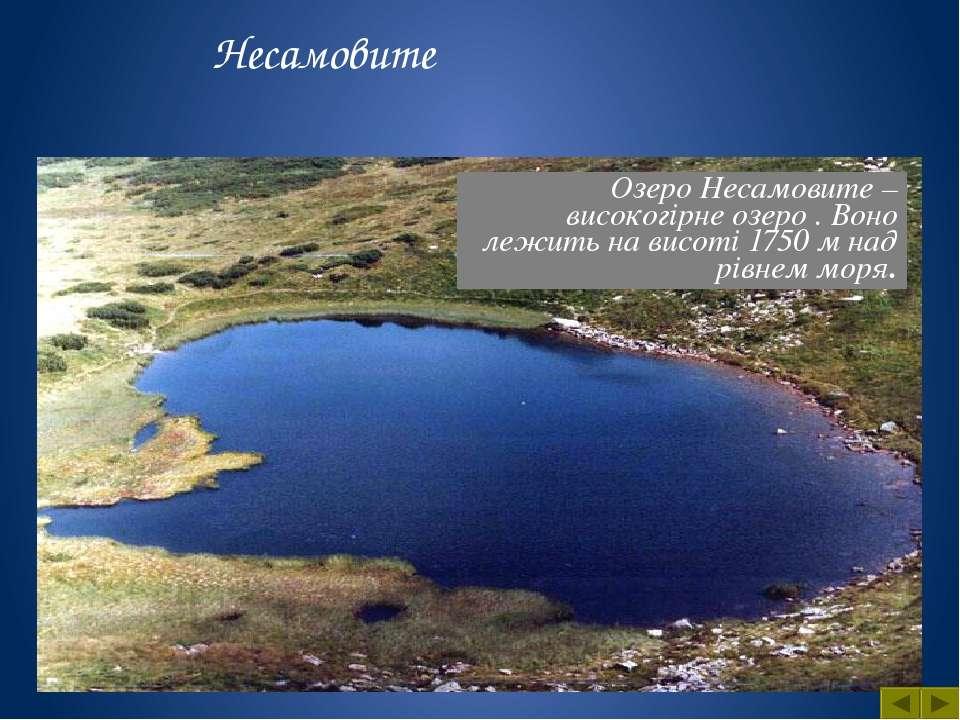 Біля підніжжя гори «Озерна» , розташоване озеро Синевир . Воно утворилось вна...