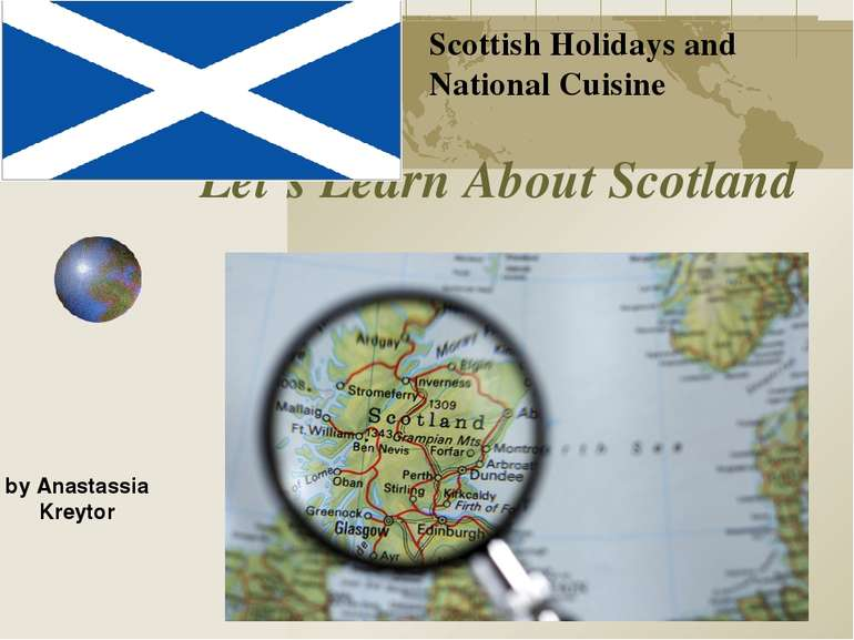 Let's Learn About Scotland Scottish Holidays and National Cuisine by Anastass...