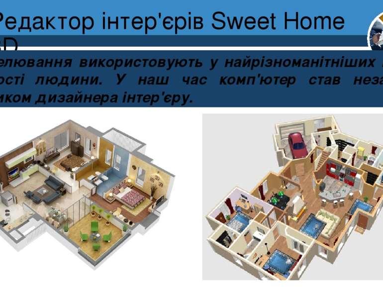 Редактор інтер'єрів Sweet Home 3D Розділ 8 § 30 Моделювання використовують у ...