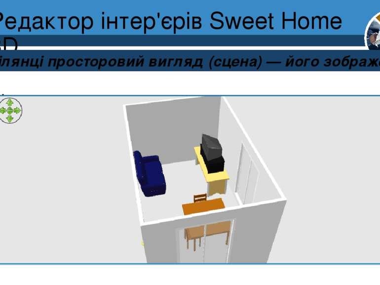 Редактор інтер'єрів Sweet Home 3D Розділ 8 § 30 На ділянці просторовий вигляд...