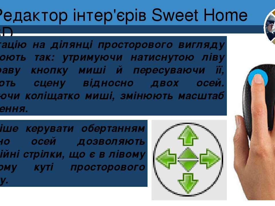 Редактор інтер'єрів Sweet Home 3D Розділ 8 § 30 Навігацію на ділянці просторо...