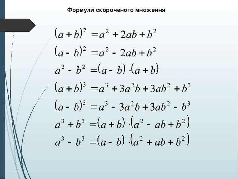 Формули скороченого множення