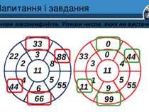Запитання і завдання Установи закономірність. Упиши числа, яких не вистачає. ...