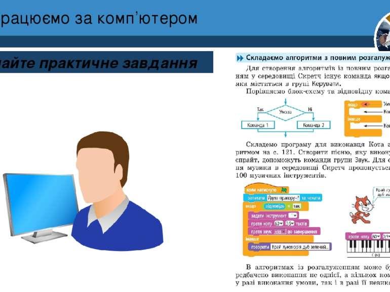 Працюємо за комп'ютером Виконайте практичне завдання Розділ 4 § 25 4