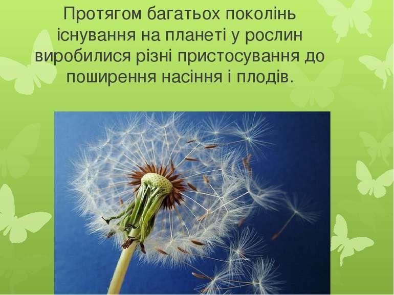 Протягом багатьох поколінь існування на планеті у рослин виробилися різні при...
