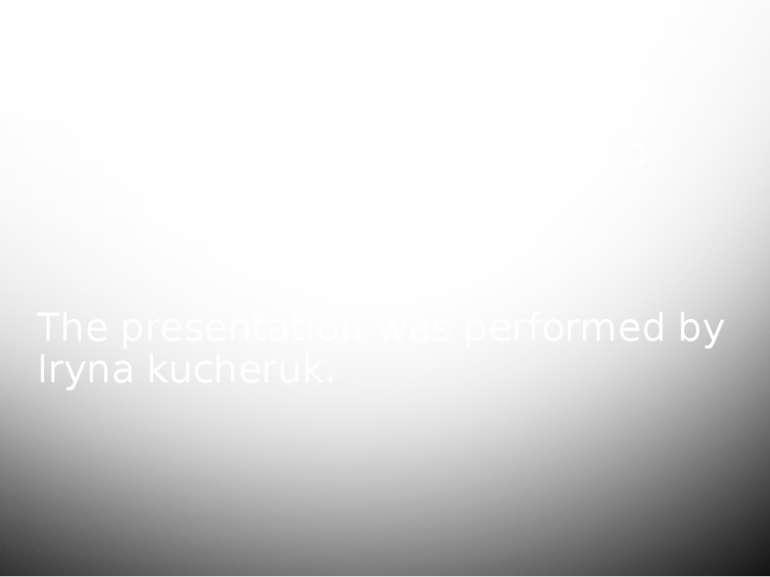 The presentation was performed by Iryna kucheruk. Refrigerators