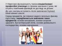 У Німеччині функціонують також спеціалізовані професійні училища зі строком н...