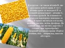Кукурудза – це також вітамін К, що допомагає роботі серця. Є тут і вітамін кр...