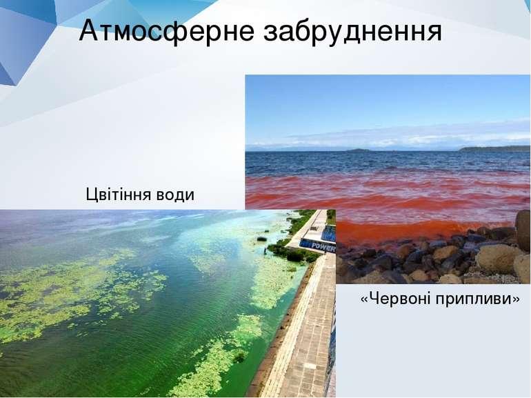Атмосферне забруднення Цвітіння води «Червоні припливи»