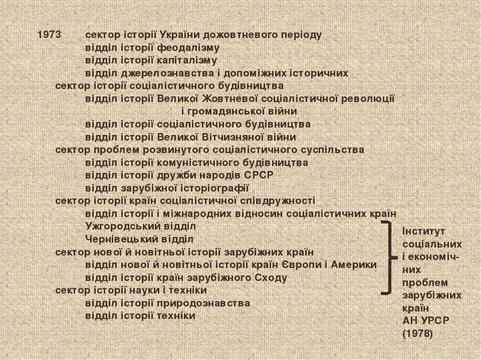 сектор історії України дожовтневого періоду відділ історії феодалізму відділ ...