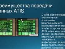 Преимущества передачи данных ATIS D-ATIS обеспечивает значительное повышение ...