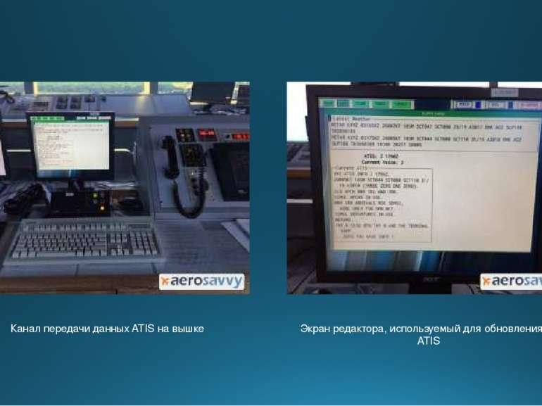 Канал передачи данных ATIS на вышке Экран редактора, используемый для обновле...
