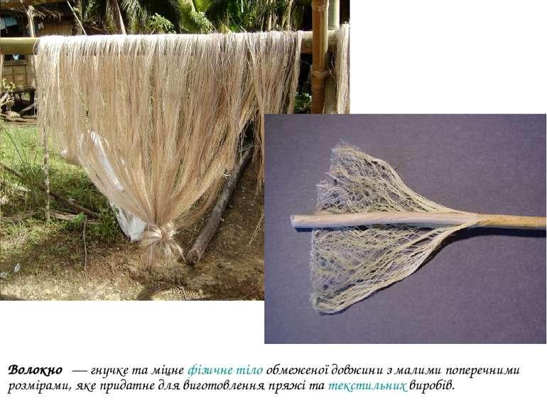 Волокно — гнучке та міцнефізичне тілообмеженої довжини з малими поперечним...