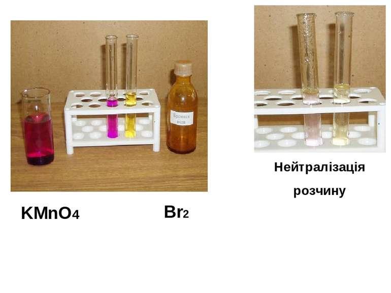 KMnO4 Br2 Нейтралізація розчину