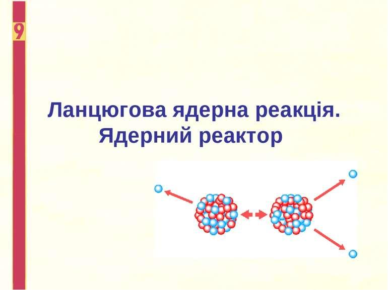 Ланцюгова ядерна реакція. Ядерний реактор