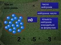 Число нейтронів Кількість нейтронів знаходиться за формулою N = А _ Z N 5 3 2...