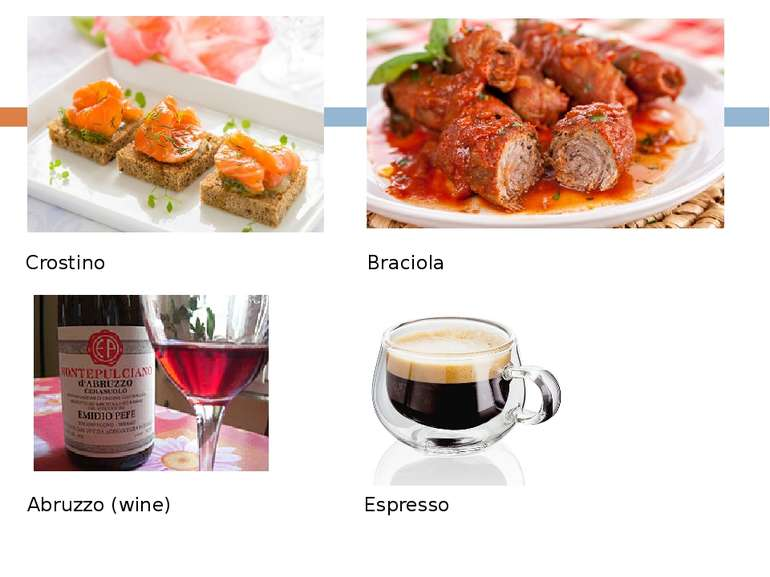 Crostino Braciola Abruzzo (wine) Espresso