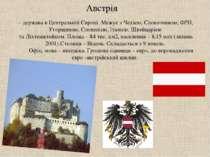 Австрія – держава в Центральній Європі. Межує з Чехією, Словаччиною, ФРН, Уго...