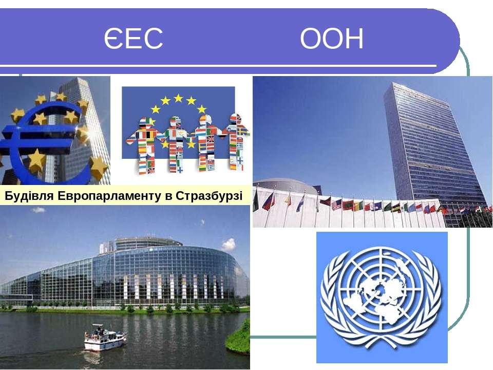 ЄЕС ООН Будівля Европарламенту в Стразбурзі