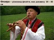 Флояра – різновид флейти, має довжину 30 – 80 см