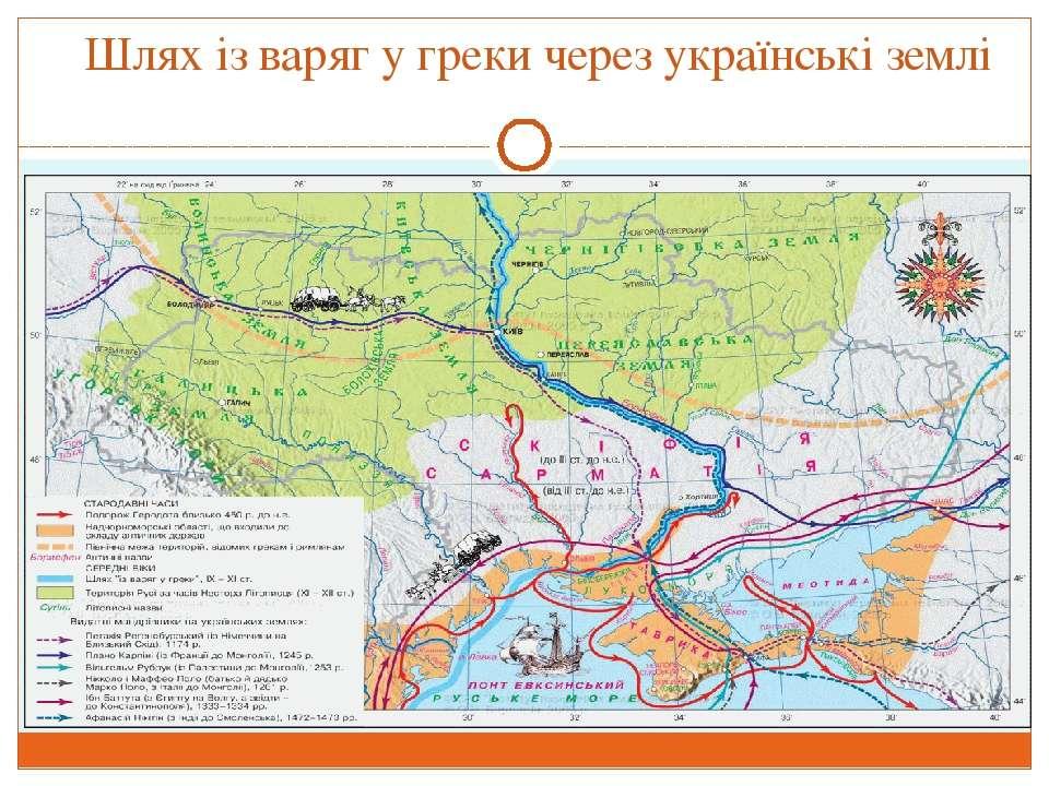 Шлях із варяг у греки через українські землі
