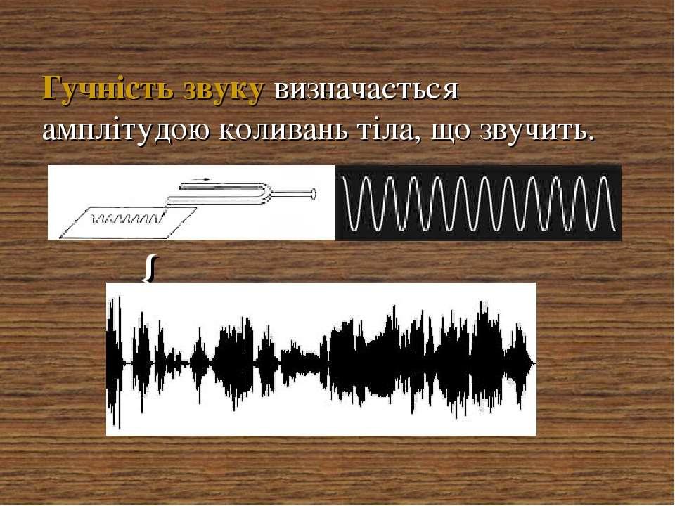 Гучність звуку визначається амплітудою коливань тіла, що звучить. {