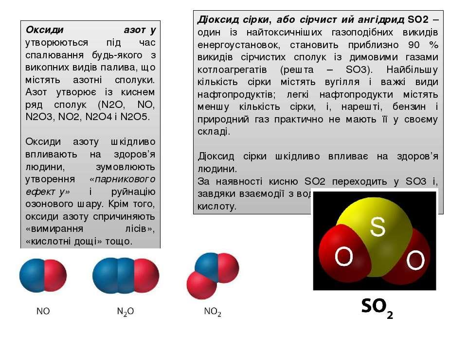 Діоксид сірки, або сірчистий ангідрид SО2 – один із найтоксичніших газоподібн...