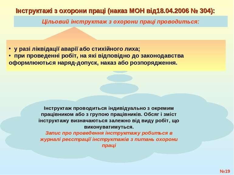 Цільовий інструктаж з охорони праці проводиться: №* Інструктажі з охорони пра...
