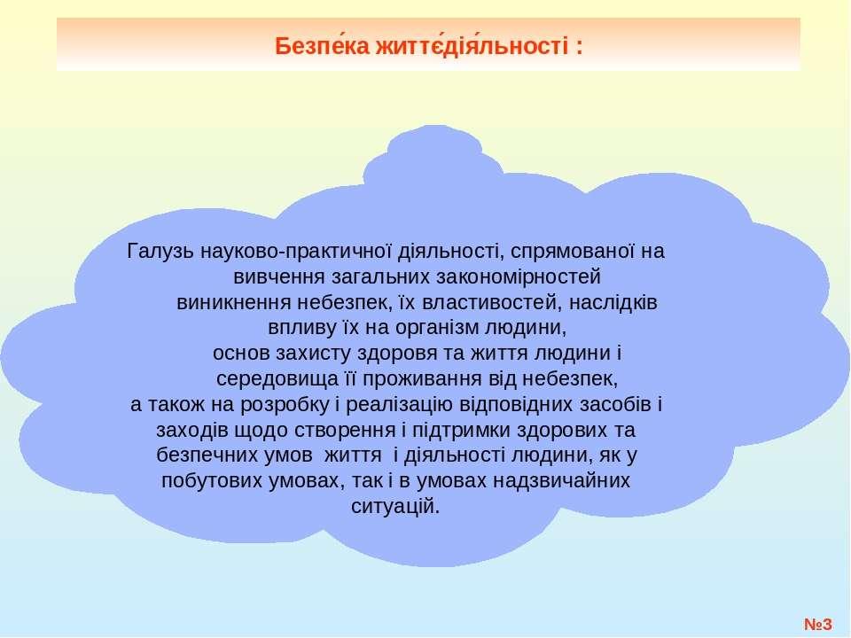№* Безпе ка життє дія льності: Галузь науково-практичної діяльності, спрямов...